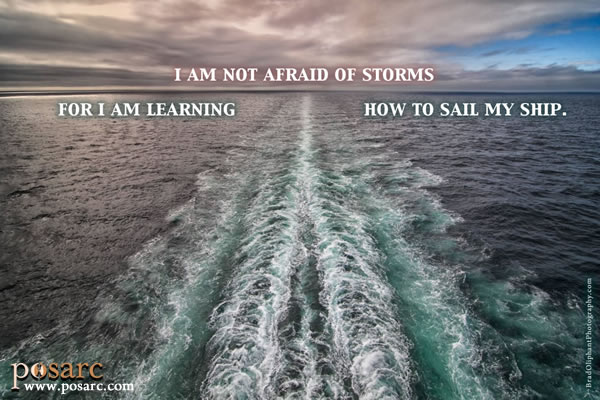 PoSARC Inspiration - I am not afraid of storms